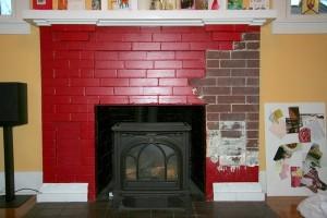Repairing Fireplace