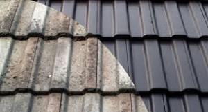 Damaged Versus Repaired Roof