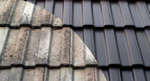 Damaged Versus Repaired Roof