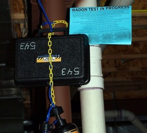 Radon Test In Progress